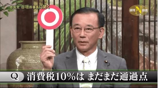 自民党・谷垣幹事長 「消費税10%は まだまだ通過点」
