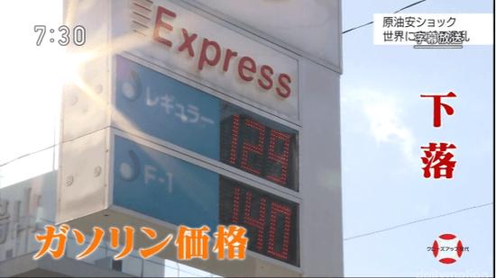 ガソリン価格 下落