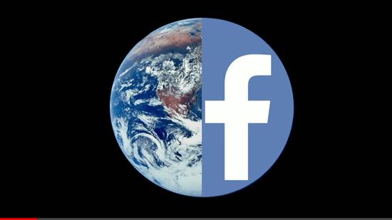 地球の半分を占めるFacebookのイメージ