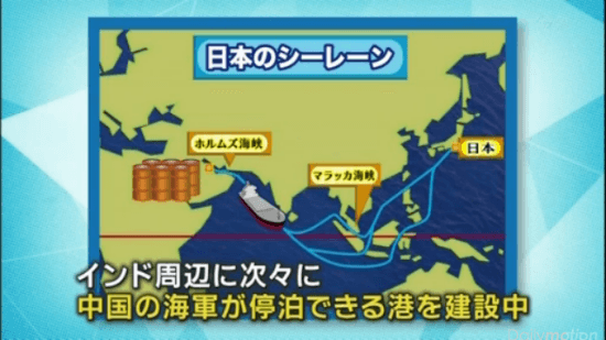 インド周辺に次々に中国の海軍が停泊できる港を建設中