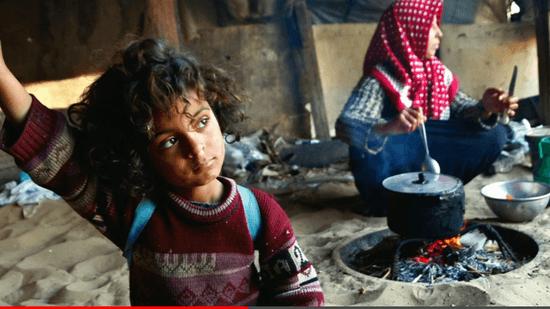パレスチナ・ガザ地区の子供