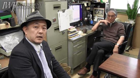 IWJの岩上安身さんと、小出裕章さん