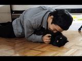 2週間ぶりに飼い主さんと再会したのに無感動・無関心な猫のしおちゃん