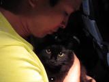 しゃべる猫「しおちゃん」のNY引っ越しドキュメンタリー/初めての飛行機でしおちゃん大騒ぎ