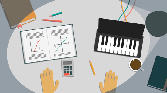 「試験勉強」と「ピアノの練習」