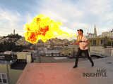 「火を噴く男」 を 『ザ・ワールド!時よ止まれ!』 的なスーパースロー映像でお届け/GoPro HERO3
