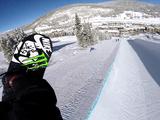 スノーボード 平野歩夢(ひらの・あゆむ)選手がヘルメットにビデオカメラを付けてハーフパイプにドロップイン!する 【GoPro映像】